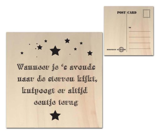 Houten Ansichtkaarten - Diverse Teksten - Factory4Home-6689