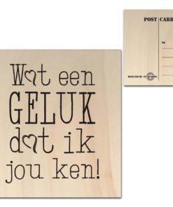 Houten Ansichtkaarten - Diverse Teksten - Factory4Home-6685