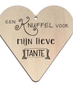 Houten Gift Heart/Ansichtkaart - Diverse Teksten - Factory4Home-6703