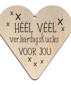 Houten Gift Heart/Ansichtkaart - Diverse Teksten - Factory4Home-6715