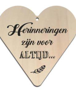 Houten Gift Heart/Ansichtkaart - Diverse Teksten - Factory4Home-6698