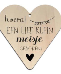 Houten Gift Heart/Ansichtkaart - Diverse Teksten - Factory4Home-6700