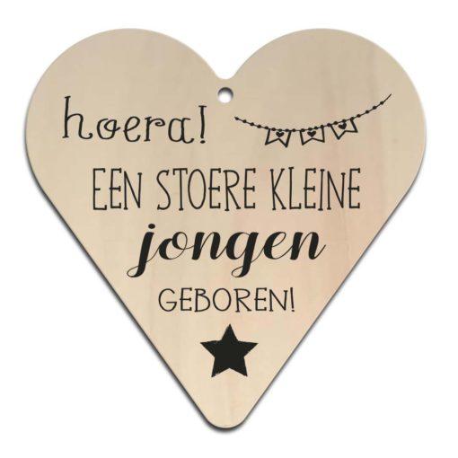 Houten Gift Heart/Ansichtkaart - Diverse Teksten - Factory4Home-6711