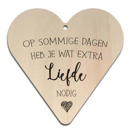 Houten Gift Heart/Ansichtkaart - Diverse Teksten - Factory4Home-6708
