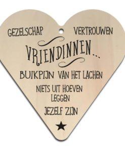 Houten Gift Heart/Ansichtkaart - Diverse Teksten - Factory4Home-6716