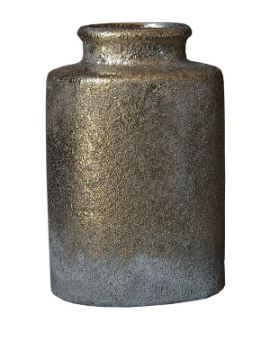 Julio Gold Cement Pot Ovale Small Top L- PTMD-0