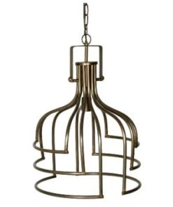 Denli brass Iron hanging lamp open design round L - PTMD-0