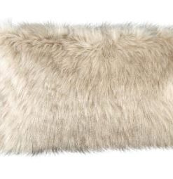 Noud cream long Faux fur cushion rectangle - PTMD-0