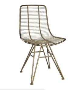 wire brass metal dining chair - PTMD-0