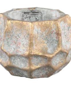 Todd gold diamond Cement pot round - verschillende maten - PTMD-6997