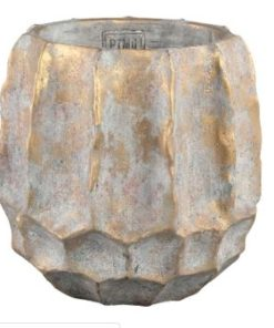 Todd gold diamond Cement pot round high S - PTMD-0